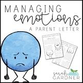 Managing Emotions Parent Letter
