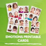 Managing Emotions Printable Cards for Pre-K,Childcare,Dayc
