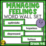 Managing Feelings Word Wall Words- Editable