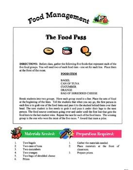 Managing Food Lesson