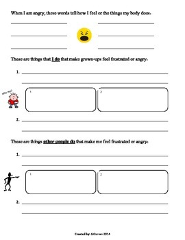 Managing Frustration Worksheet