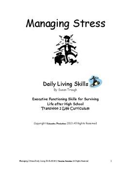 DLS Mini-Lesson Managing Holiday Stress -Daily Living Skills