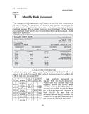 Managing Money: Banking Basics-Monthly Bank Statement
