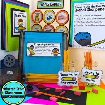 Managing Pencils in the Classroom : Tips and Printables for Classroom Management