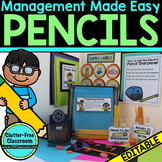 Managing Pencils in the Classroom : Tips and Printables fo