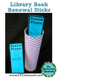 Managing School Library Books {Printables: Sign and Renewal Bookmarks}