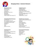 Managing Stress -  Common Stressors
