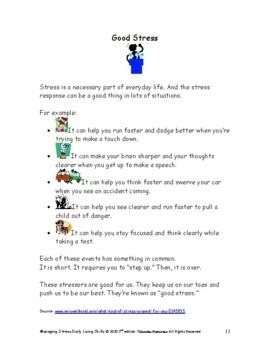 DLS Managing Stress Workbook-Daily Living Skills
