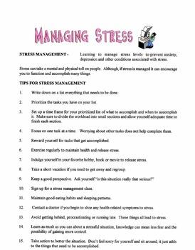 Managing Stress Lesson