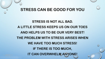 Managing Stress Lesson w 9 Video Links & Worksheet PBIS