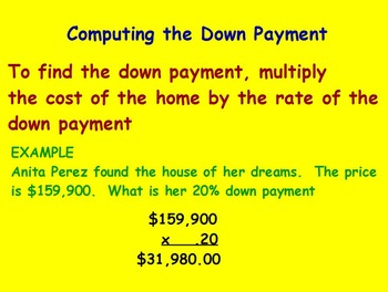 Managing a Household - Buying a House Centers Activity (POWERPOINT)