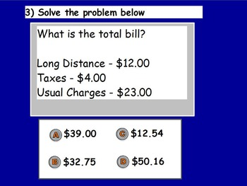 Managing a Household - Paying Bills Quiz (POWERPOINT)