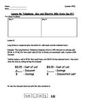Managing a Household - Phone Bills Worksheet; Real World Math