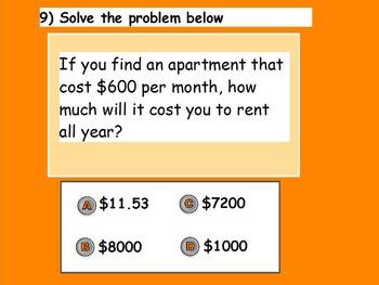 Managing a Household (Pre-Quiz) (SMART BOARD)