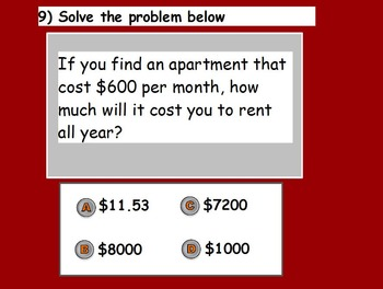 Managing a Household - Renting a Home Quiz (SMART BOARD)