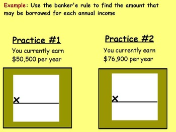 Managing a household - Buying a House w worksheet; Real world Math (POWERPOINT)