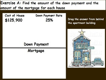 Managing a household - Computing the Down Payment; Real world Math (POWERPOINT)