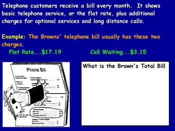 Managing a household - Paying Bills w Worksheet; Real worl