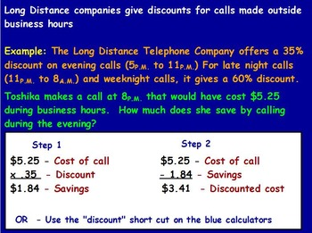 Managing a household - Phone Bill w Worksheet; Real world Math (POWERPOINT)