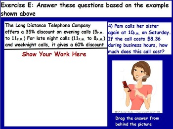 Managing a household - Phone Bill w Worksheet; Real world
