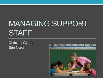 Managing paraprofessionals