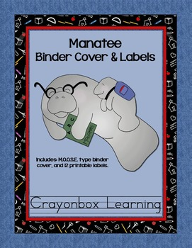 Manatee Book Cover and Labels Kit