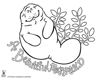 Manatee Coloring Page Free For The Month Of May