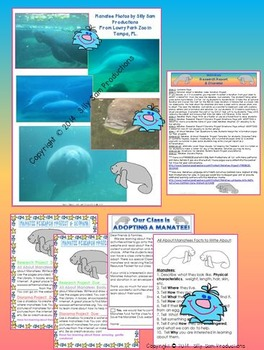 All About Manatee Research Report & Diorama Project Common Core Aligned