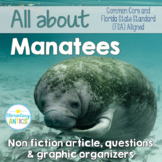 FSA & CCSS Aligned Manatees Reading and Language Practice | Distance Learning