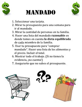 Mandado - Instrucción Financiero || Financial Literacy (Spanish)