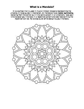 mandala color sheet art radial symmetry worksheet activity. Black Bedroom Furniture Sets. Home Design Ideas