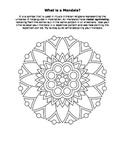 Mandala Color Sheet Art Radial Symmetry Worksheet Activity