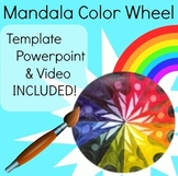 Mandala Color Wheel Art Lesson Painting Acrylic Geometry P