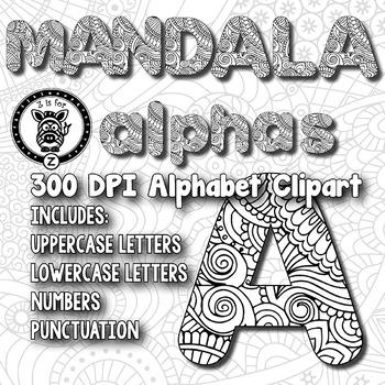 Mandala Coloring Alpha Clip Art