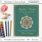 Mandala Coloring Book Adult Coloring Book Printable PDF Re