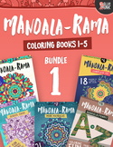 Mandala Coloring Books– Mandala-Rama {BUNDLE 1} – Books 1 – 5