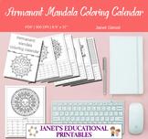 Permanent Mandala Coloring Calendar