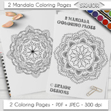 Mandala Coloring Page Adult Coloring Printable Relaxation