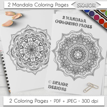 Mandala Coloring Page Adult Coloring Printable Relaxation Meditation Zen #02