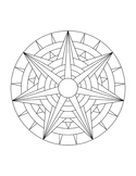 Mandala Coloring Page For Children