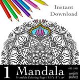 Mandala Coloring Page, Mandala Colouring, Mandala Flower HS M-1001