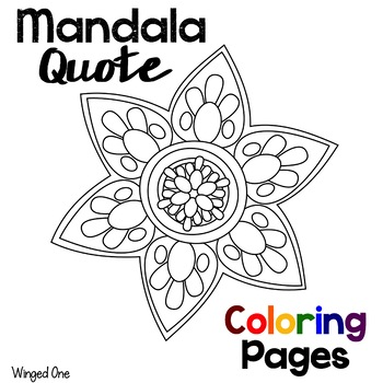 mandala coloring pages with einstein quotes by winged one tpt. Black Bedroom Furniture Sets. Home Design Ideas
