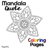 Mandala Coloring Pages with Einstein Quotes