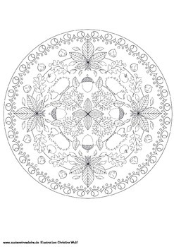 Mandala Coloring Pages Autumn