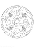 Mandala Coloring Pages Autumn
