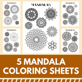 Mandala Coloring Pages - Great Middle and High School Time Fillers