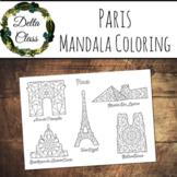Mandala Coloring Pages - Places & Buildings - France