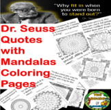 Mandala Coloring Pages with Dr. Seuss Quotes(The House of
