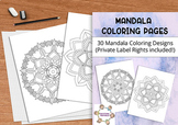 Mandala Coloring Pages with Private Label Rights (PLR)