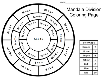 mandala division coloring page by jazzy janey